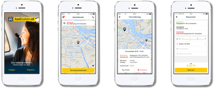 taxiboeken app op je mobiel